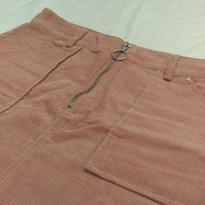 Corduroy high waisted skirt